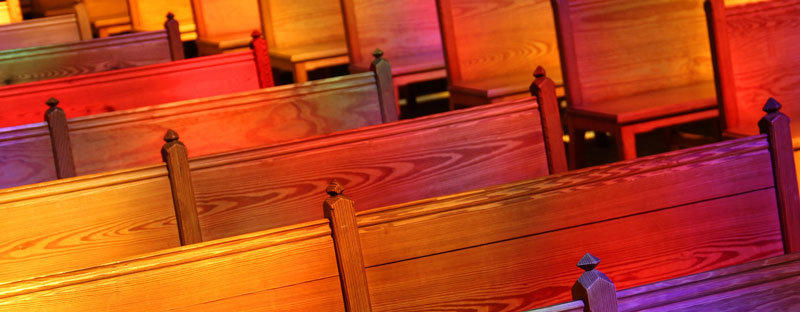 Empty Wooden Pews.